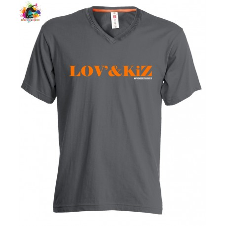 TEE-shirt V NECK Homme COLLECTION LOVE AND KIZ
