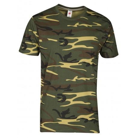 Tee shirt CAMO Vert - SUNSET Homme
