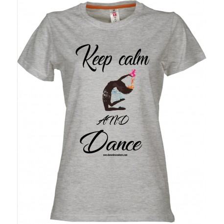 Tee shirt LADY: Keep calm and Dance