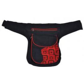 Sac 2 positions : sac banane / sac bandoulière à 3 poches zippées