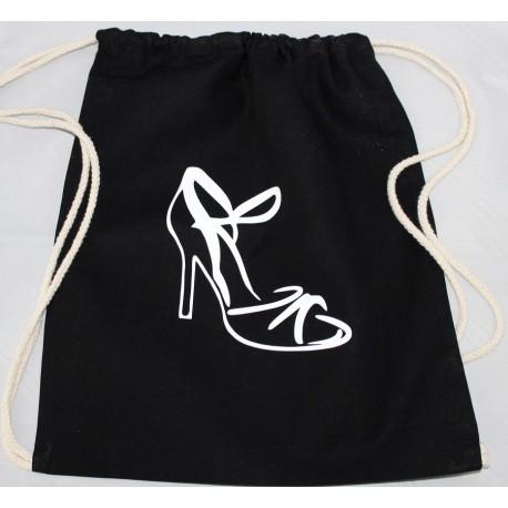 SAC coton personnalisé noir: Chaussure LATINA