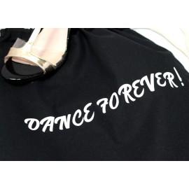 SAC coton personnalisé noir: DANCE FOREVER