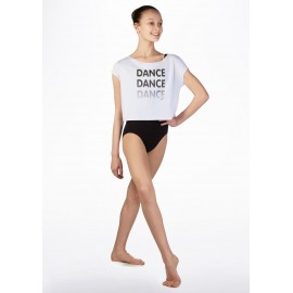 CROP TOP Danse blancdos hachuré SO DANCA :  DANCE