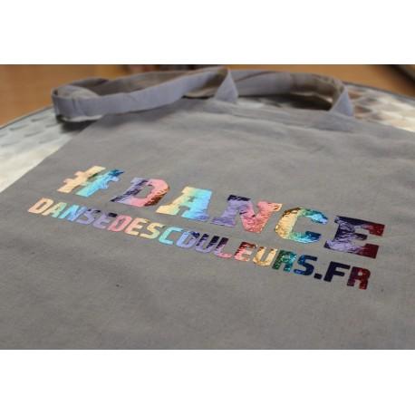 SAC en toile coton TOTEBAG Personnalisé : DANCE Rainbow multicolore