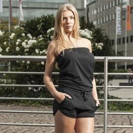 Combishort Femme coton noir