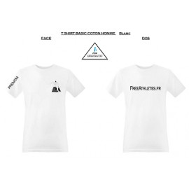 Tee shirt coton BASIC Homme Blanc personnalisé FREE ATHLETES Nantais