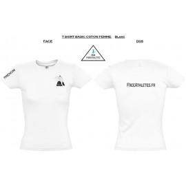 Tee shirt coton BASIC Femme personnalisé FREEATHLETES Nantais