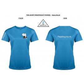 Tee shirt Respirant sport FEMME Personnalisé FREEATHLETES