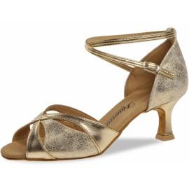 Chaussure danse latine cuir or