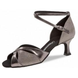Chaussure danse latine cuir bronze gris