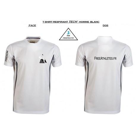 Tee shirt sport TECHNIQUE Homme personnalisé FREEATHLETES
