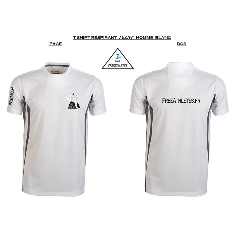 Top shirt sport TECHNIQUE Homme personnalisé FREEATHLETES TV91