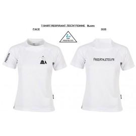Tee shirt TECHNIQUE respirant FEMME Personnalisé FREEATHLETES