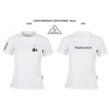 gros en ligne vente en ligne guetter Tee shirt TECHNIQUE respirant FEMME Personnalisé FREEATHLETES