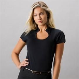 Tee-shirt femme cintré à col goutte