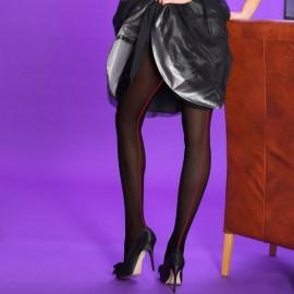 Collant opaque à couture arrière grise SCARLET