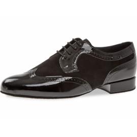 Chaussures de danse homme cuir vernis: coup de pied large 089-076-029