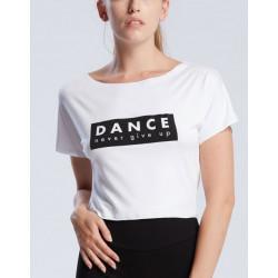 Tee-shirt court enfant viscose: DANCE NEVER GIVE UP