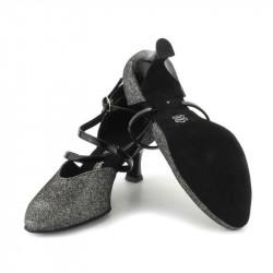 Chaussures salomé multicolore brocade irisé-Danse de salon latines