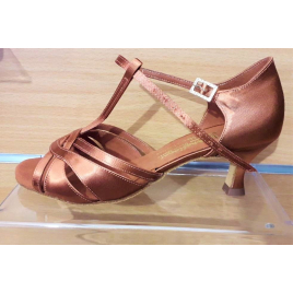 Chaussures latines MIA tan satin chair