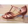 Chaussures latines MIA tan satin chair
