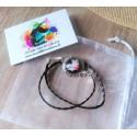 Bracelet tissé en cordon cuir interchangeable réalisé sur mesure