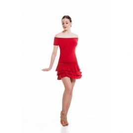 Jupe de danse latine à volants 3 paliers - SHEDDO