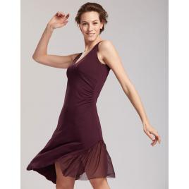 Robe de danse Latine en viscose avec voile TEMPS DANSE