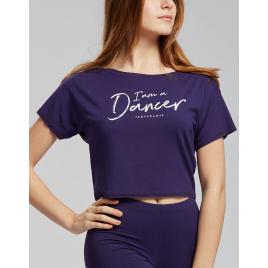 Tee-shirt court DANCER Adulte en viscose - TEMPS DANSE