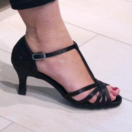 Chaussures de Danse BELINA satin noir - DANSEZ-VOUS