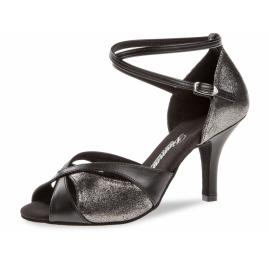 Chaussure danse Latines TANGO bicolore - Talon slim 7,5 cm - DIAMANT