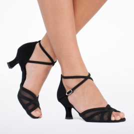 Chaussure de danse résille noir pour pieds fins - DIAMANT