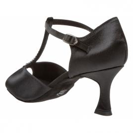 Chaussure de danse STRASS satin noir bride salomé - DIAMANT