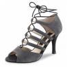 Chaussure danse latine lacée noir et nubuck gris - NUEVA EPOCA