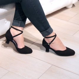 Chaussures danse fermée en nubuck noir BADRAS - MERLET