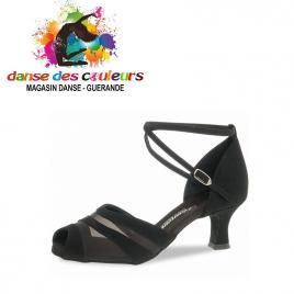 Chaussure danse résille nubuck noir 102- DIAMANT