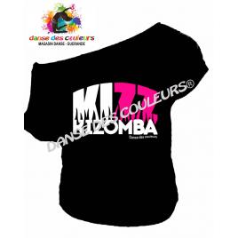 Tee-shirt assymétrique imprimé: COLLECTION KIZOMBA KIZZ bicolore