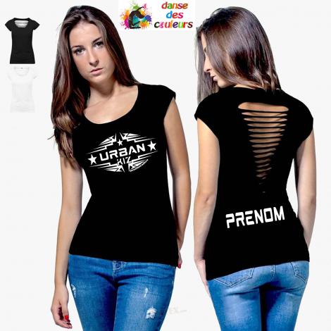 Tee-shirt sexy Femme dos ajouré: COLLECTION KIZOMBA