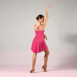 Robe de danse courte à fines bretelles croisées - SHEDDO