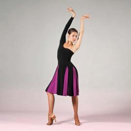 Robe de danse épaule dénudée et une manche longue-SHEDDO