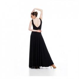 Robe longue de danse col V avec 6 pans LA620W-SHEDDO