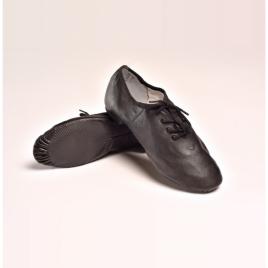Chaussures bi-semelle de danse jazz cuir à lacets-DANSEZ-VOUS