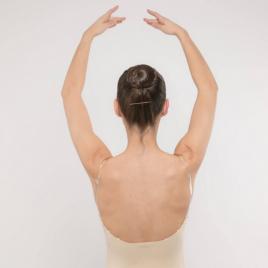Body de danse microfibre nude pour enfant et adulte-DANSEZ-VOUS