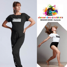 Tee-shirt court enfant viscose: DANCE NEVER GIVE UP