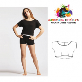 Crop top danse coupe fluide en viscose-TEMPS DANSE