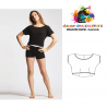 Crop top danse coupe fluide en viscose Adulte-TEMPS DANSE