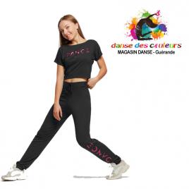 Tee-shirt court de danse LOGO DANCE Enfant-TEMPS DANSE