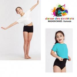 Tee-shirt court de danse fluide enfant-TEMPS DANSE