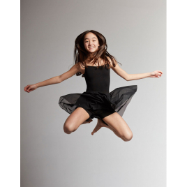 Jupe short de danse voile Enfant-TEMPS DANSE