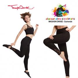 Legging de danse yoga tulle et viscose adulte-TEMPS DANSE
